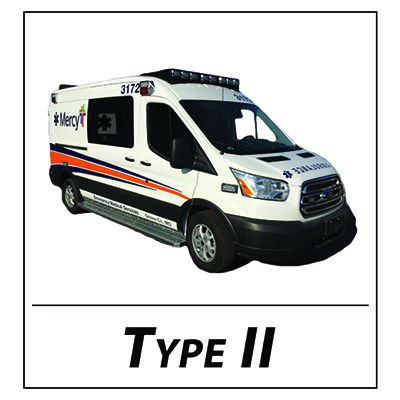 Ford Transit Midroof icon for Type II Ambulance for Front Page